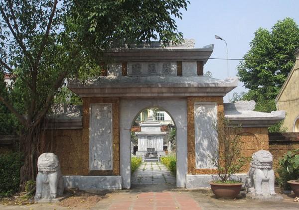 Cổng lăng mộ thờ danh nhân Tô Hiến Thành